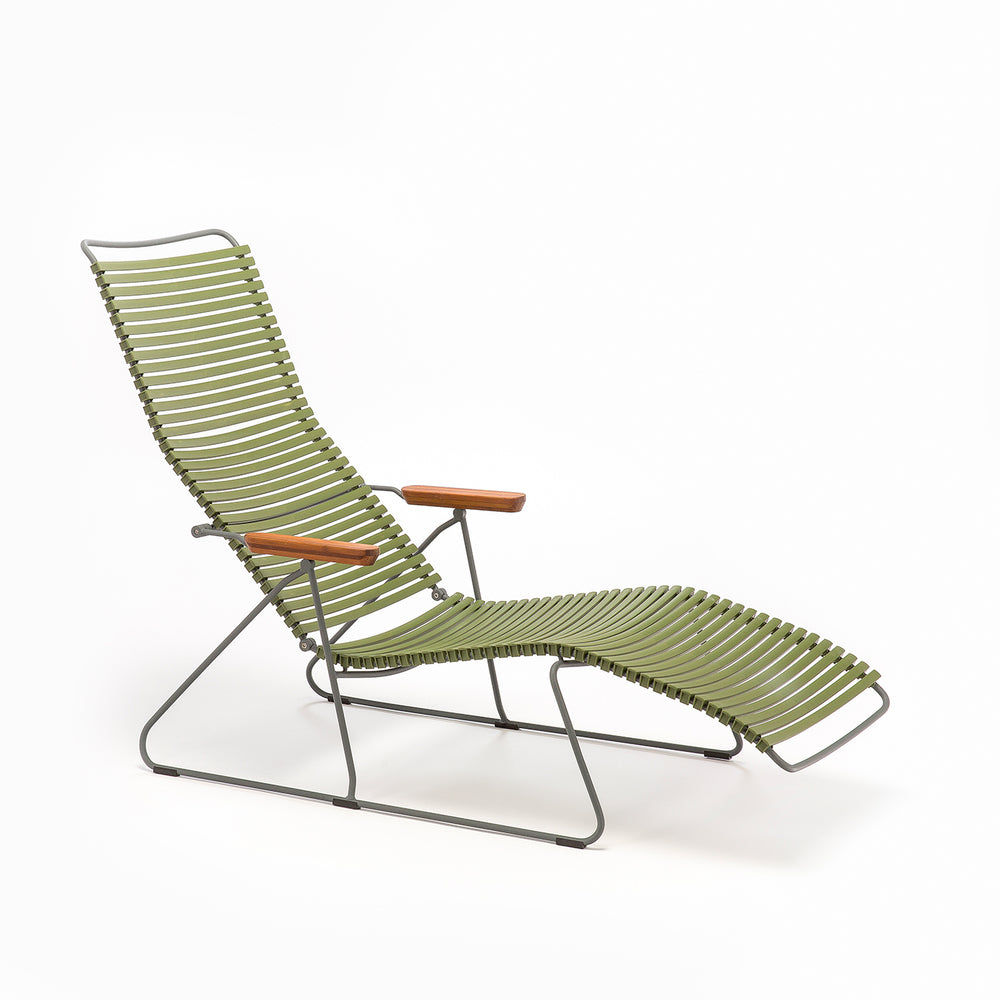 Click Sunlounger Olive Green