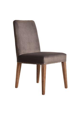 Logan Dining Chair Fox Grey Pair