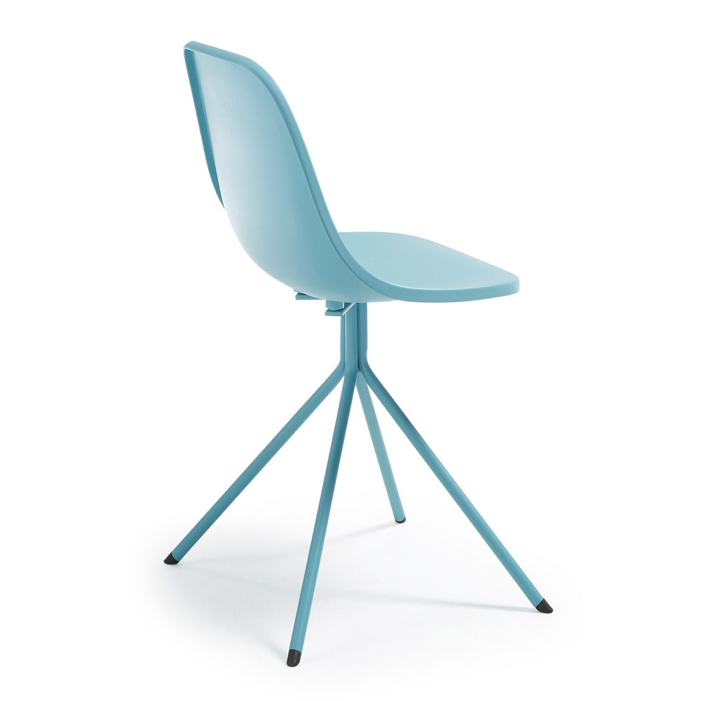 MINT Chair metal blue plastic blue