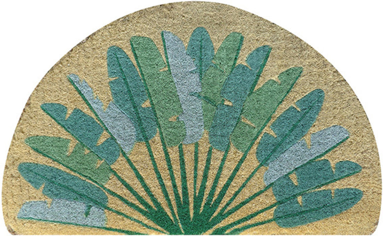 Half Round Leaves Doormat