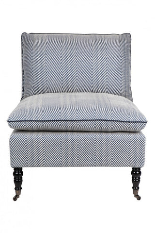Eastwick Occasional Chair Blue Chevron