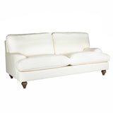 Classic Roll Arm 2.5 Seater Cream Cotton