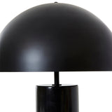 August Marble Table Lamp with Black Shade