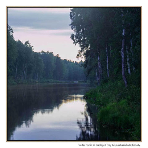 Tributary 4 Canvas Print with Floating Frame