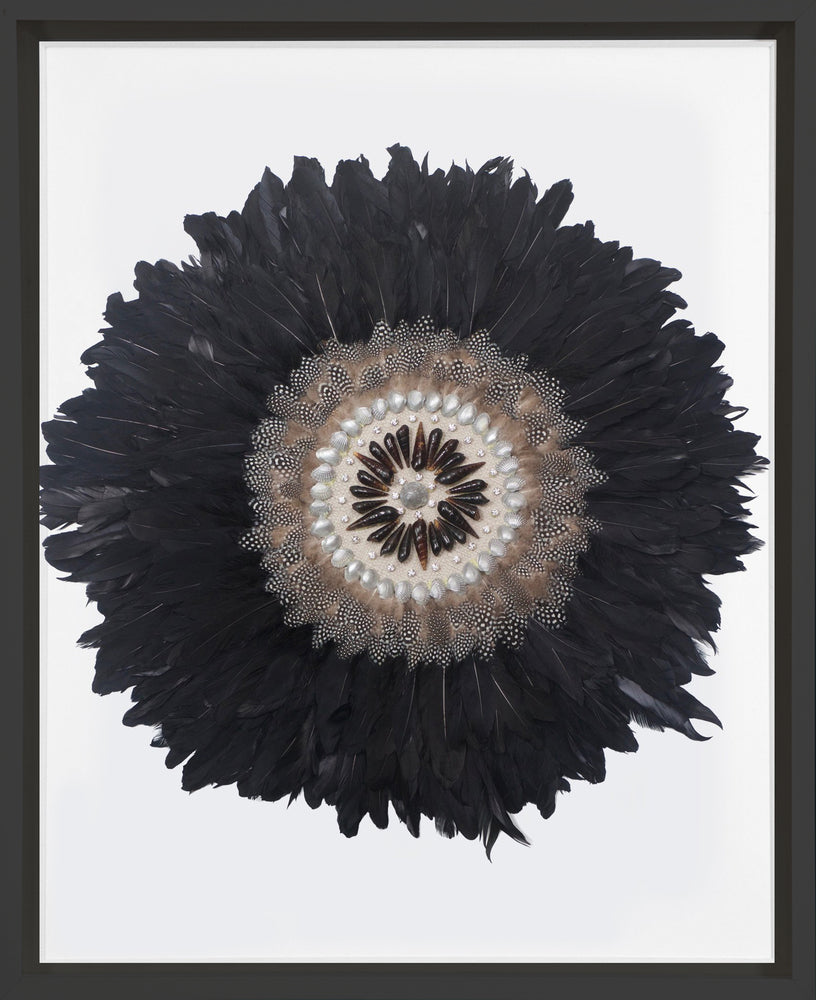 Kubo Feathers Black in Black Frame
