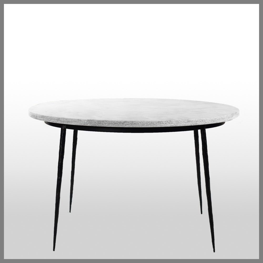 Zomier White Marble Dining Table Tables INTERIORS ONLINE