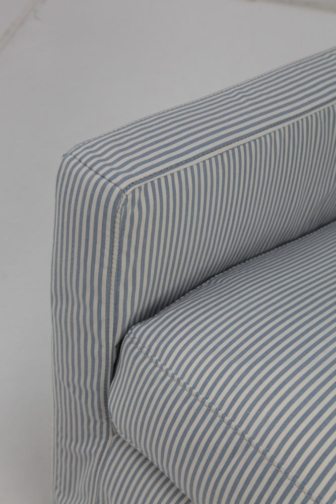 Jasper Swivel Chair Blue Stripe