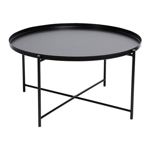 Marion Round Tray Coffee Table Black