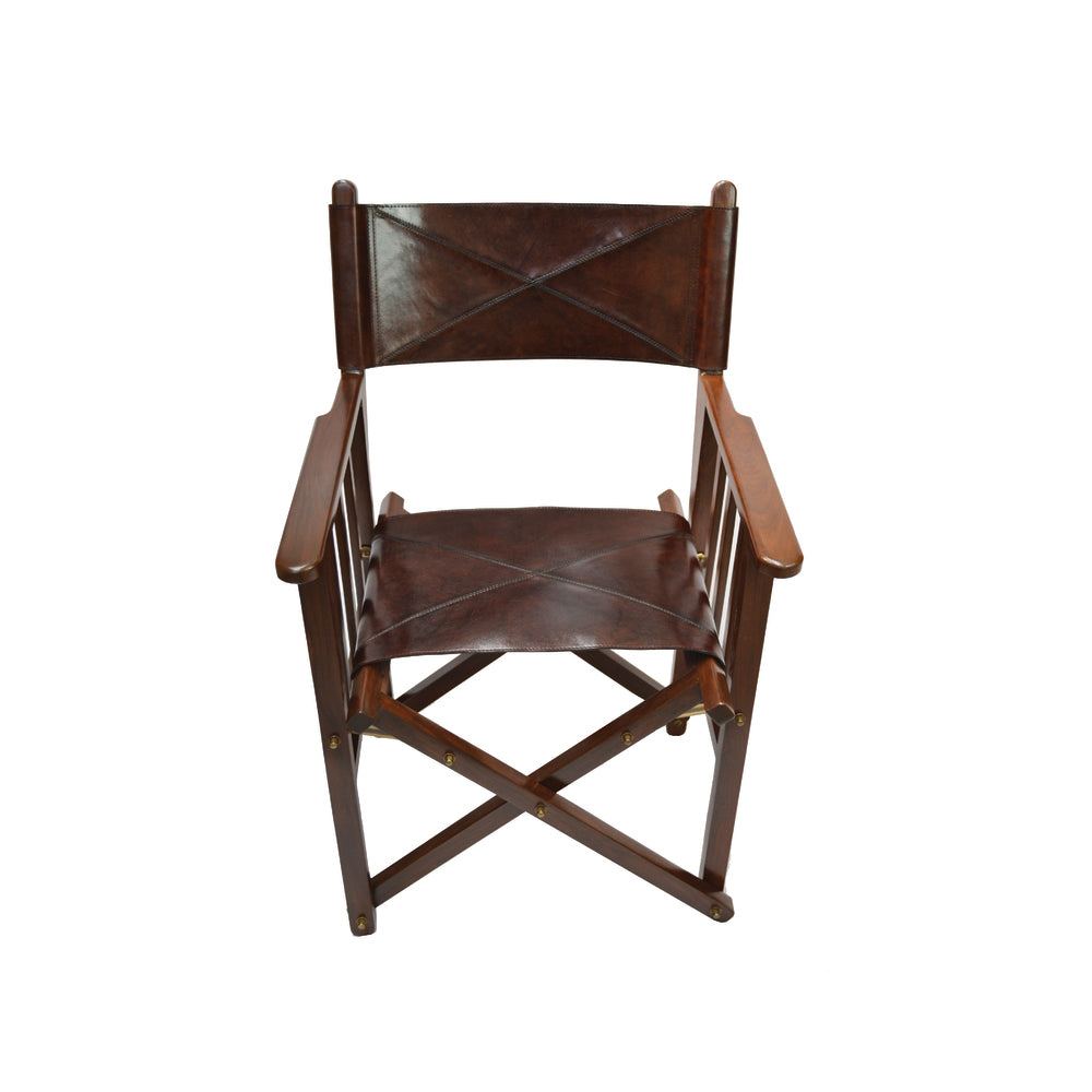 Columbus Leather Directors Chair Dark