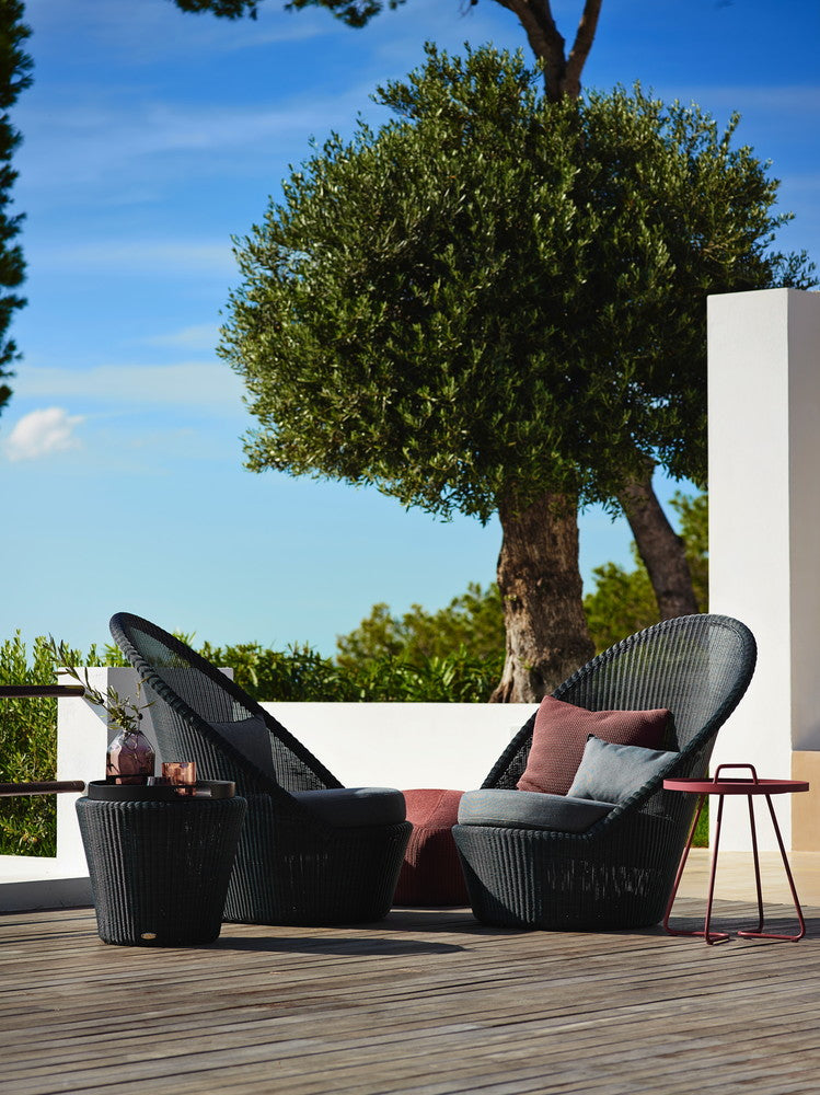 Kingston Outdoor Sun Chair Graphite with Cushion Options