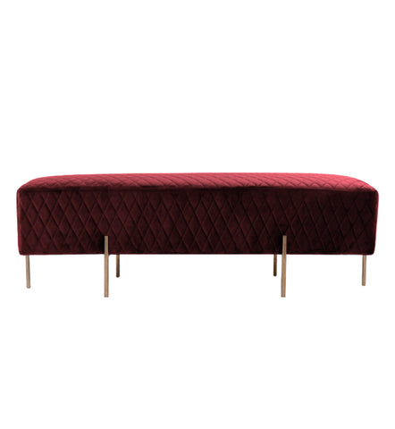 Coco Quilted Bench/Ottoman Merlot