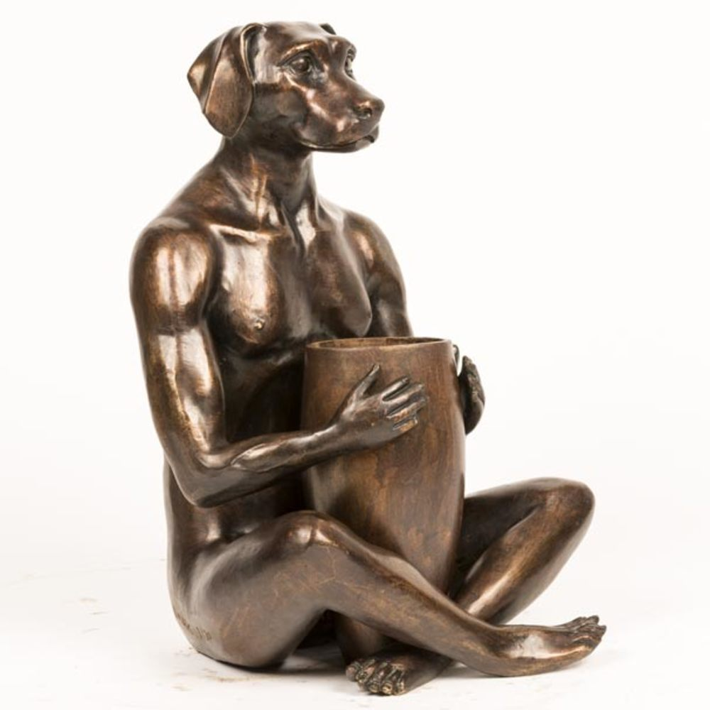 He Bought Her A Beautiful Bunch Limited Edition Bronze Sculpture