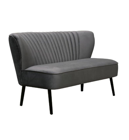 Coco Velvet Two Seater Sofa Black