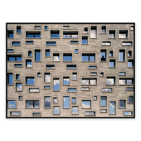 68 Windows Photographic Canvas Print with Floating Frame