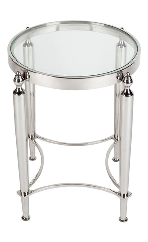 Jermaine Side Table Nickel