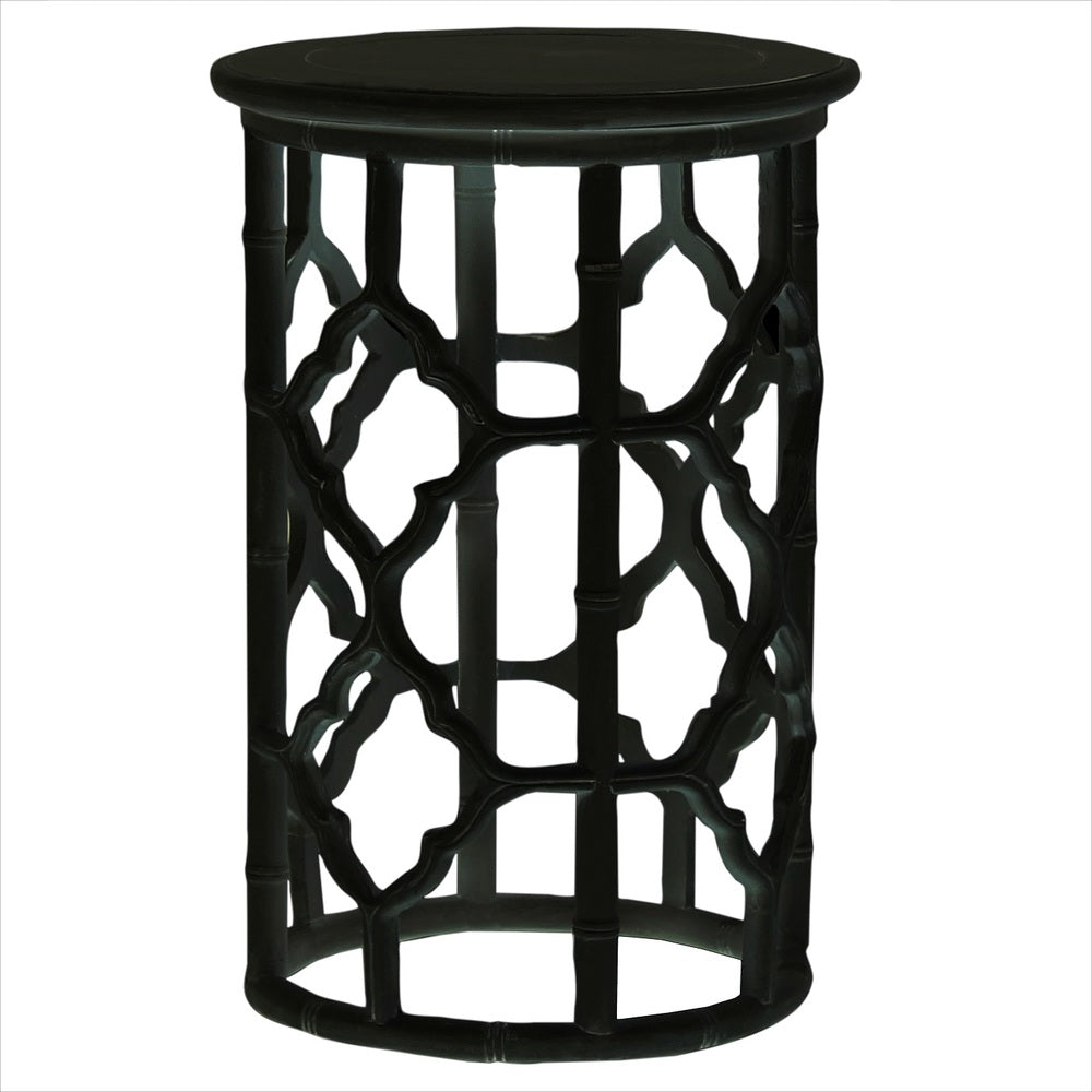 Trellis Side Table Black