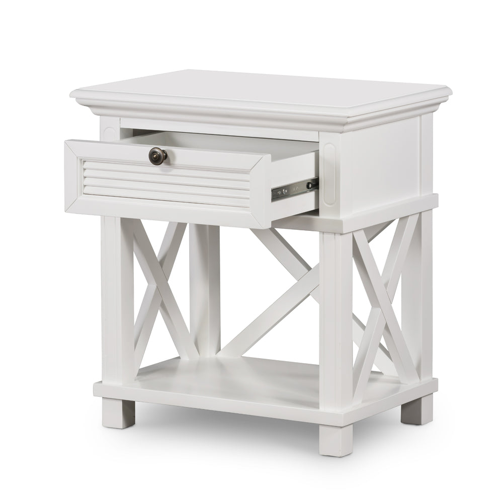 Henley Bedside Table White