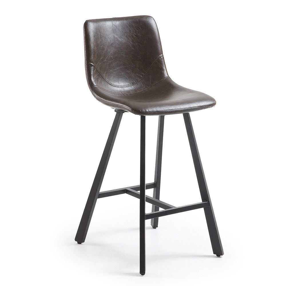 Cart Barstool Dark Brown