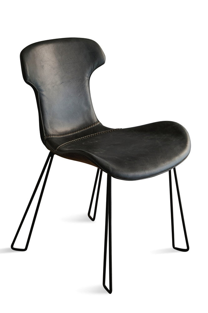 East Hill Leather Chair Slate Black