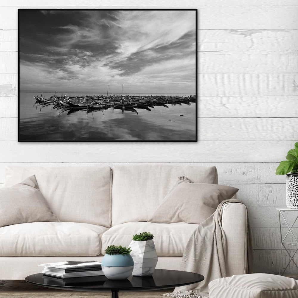 Cardume Photographic Canvas Print with Floating Frame