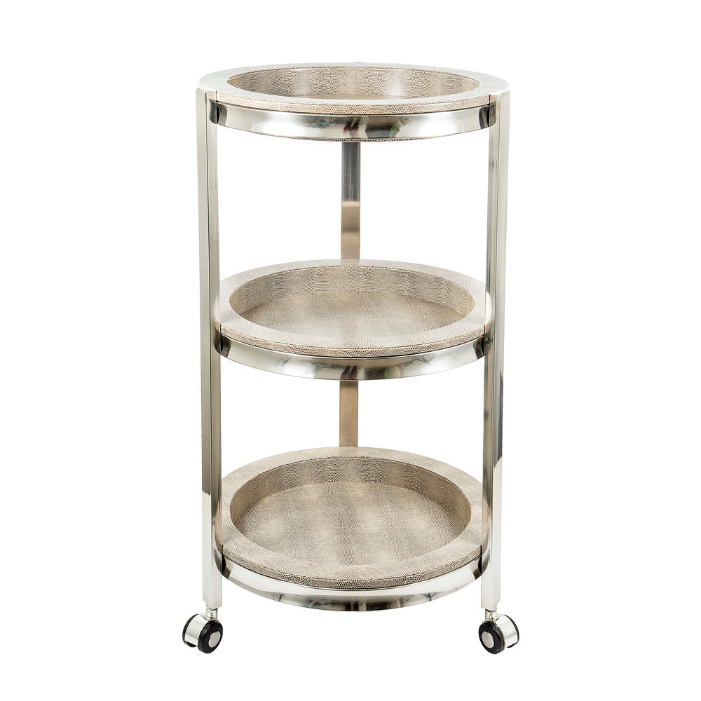 Alor Shagreen 3 Tier Trolley