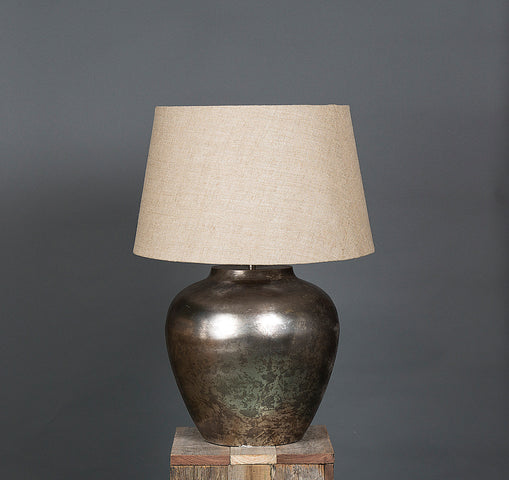 Parisian Table Lamp with Natural Linen Shade