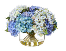 Hydrangea Mix Avery Bowl Blue