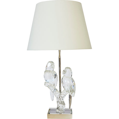 White Washed Urn Lamp with Shade