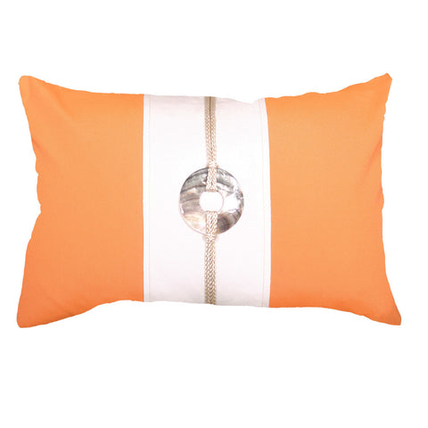Outdoor Sash Linen Lumber Cushion Orange