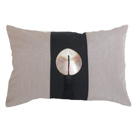 Outdoor Tassel Lumber Cushion Black