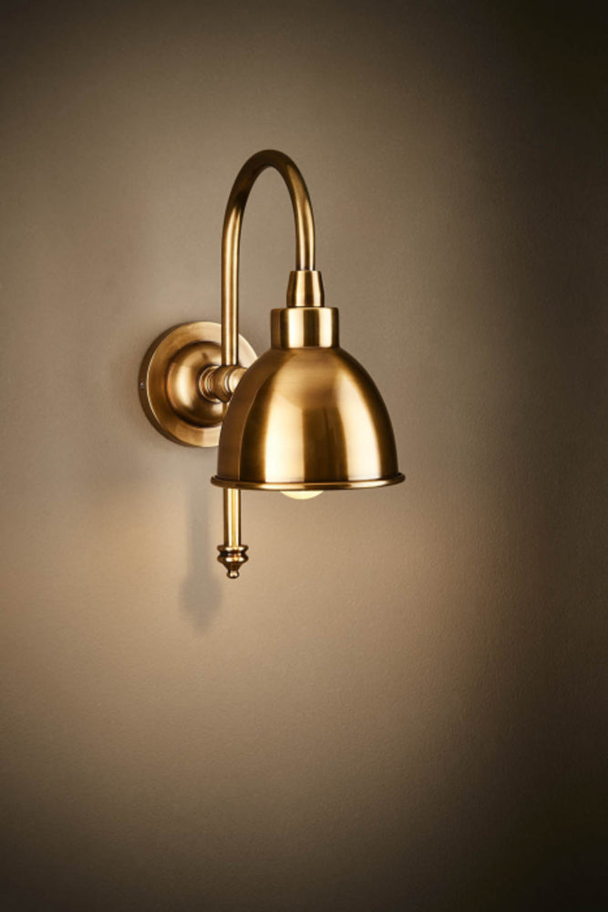 Paterson Wall Lamp Antique Brass