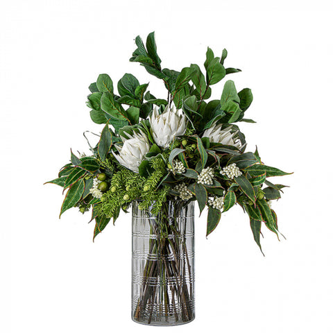 White Protea in Vase