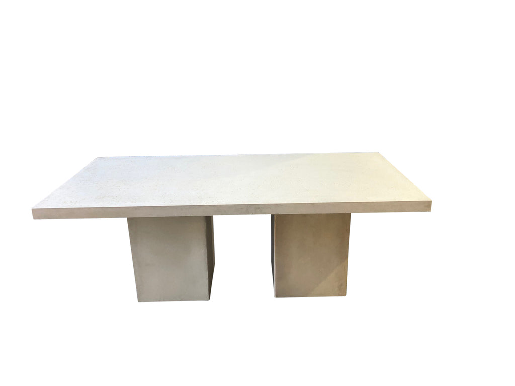 Square Edged Outdoor Rectangular Dining Table