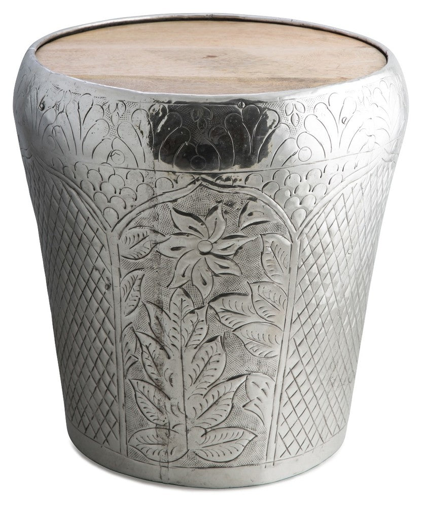 Round Aluminium Tapered Stool/Side Table