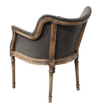 Boston Smoke Velvet Chair