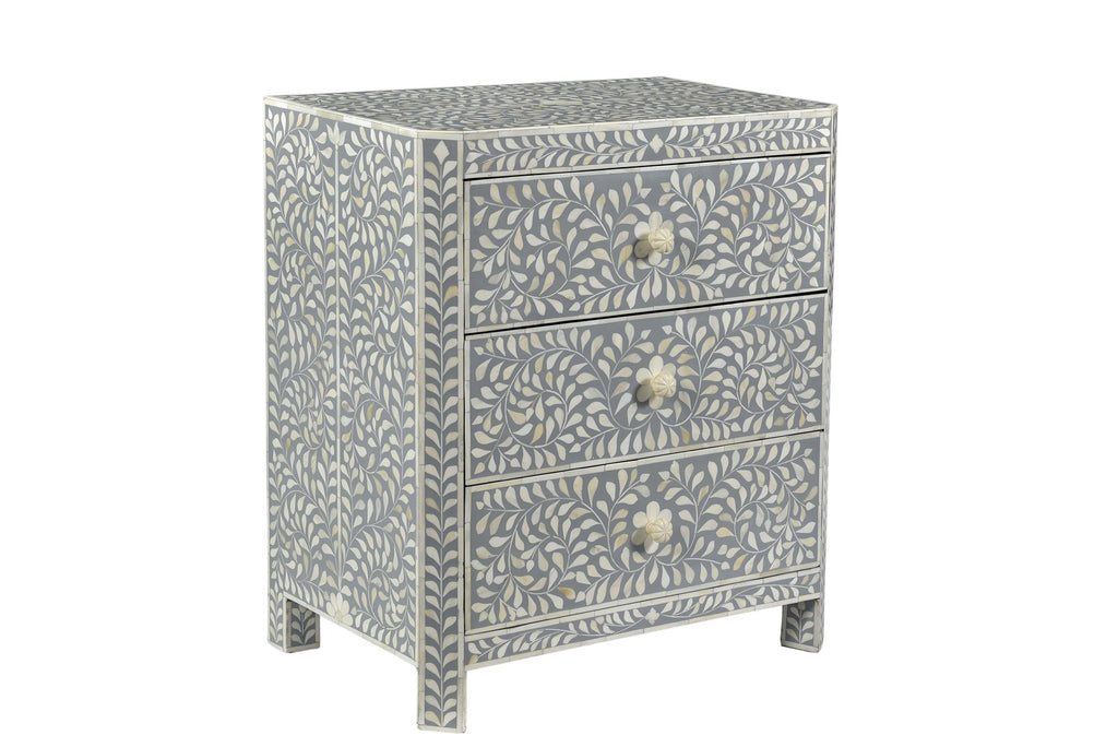 Liberty Bone Inlay Bedside Grey