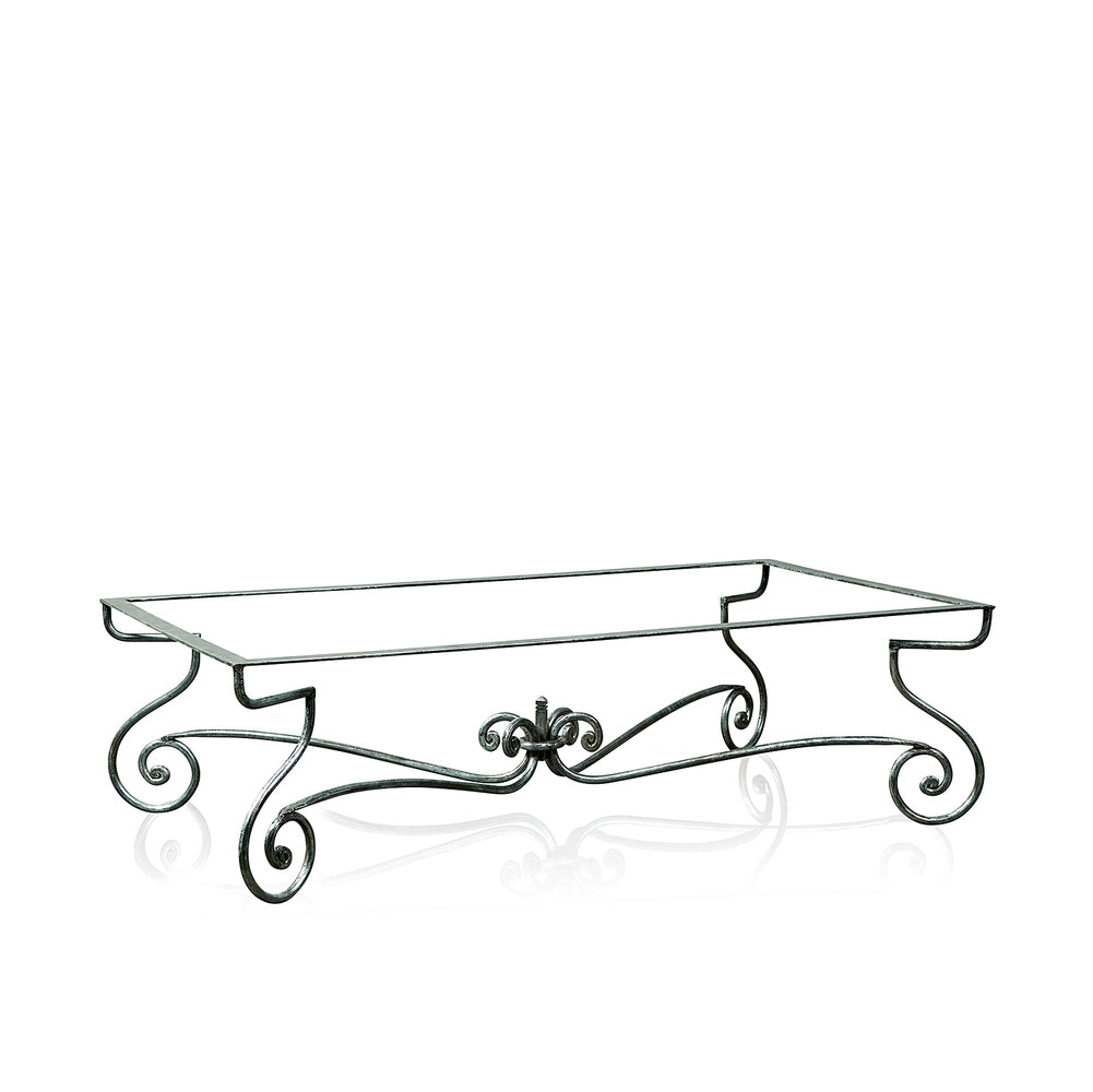 Paris Wrought Iron Coffee Table With Marble Top Small