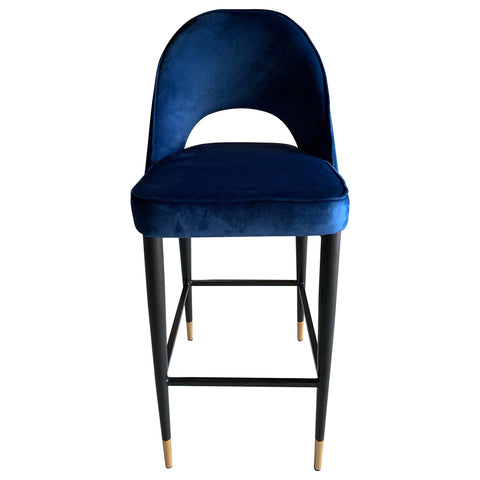 Guy Bar Chair Navy Velvet
