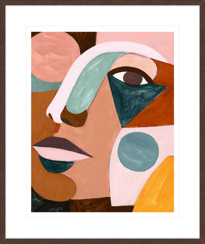 Geo Face II Framed Print