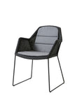 Breeze Dining Chair Sled Leg Black with Cushion Options
