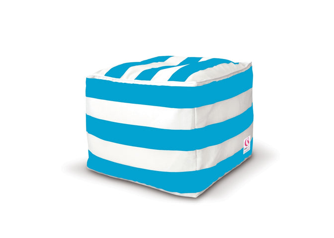 St Tropez Striped Ottoman Cover Various Colours
