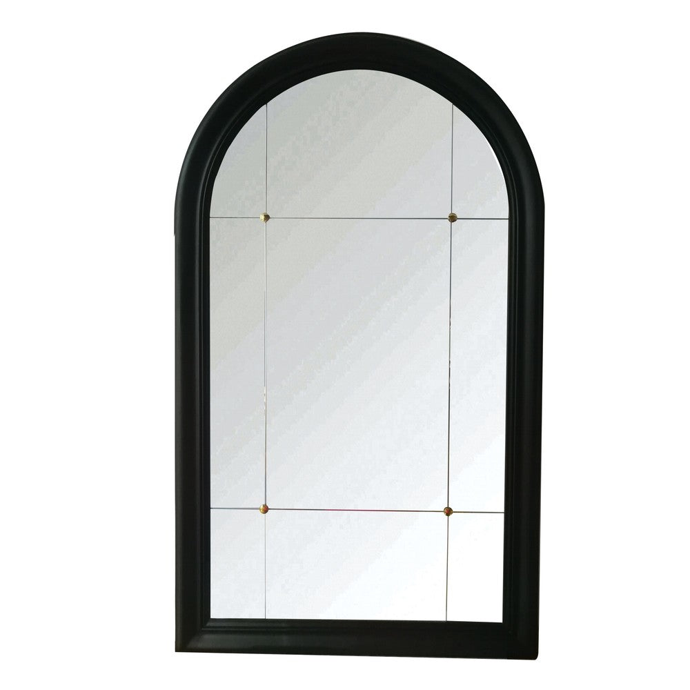 Martinez Tall Arched Mirror Black