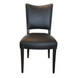 Des Dining Chair Aged Black Leather