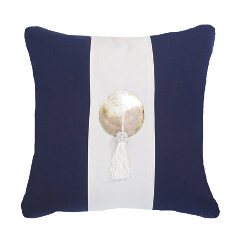 Outdoor Tassel Medium Cushion Navy
