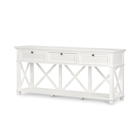 Henley 3 Drawer Console White