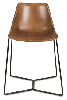 Elm Leather Dining Chair Tan