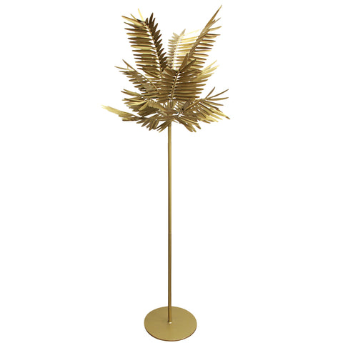 Standing Palm Leaf Lamp Gold