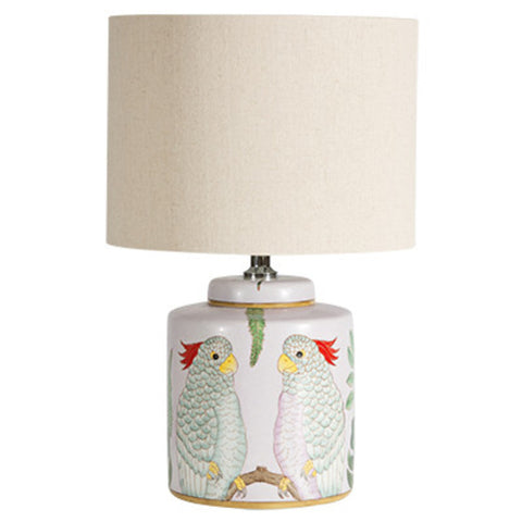 Feathered Friends Table Lamp Pink