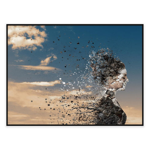In The Wind Digital Canvas Print with Floating Frame