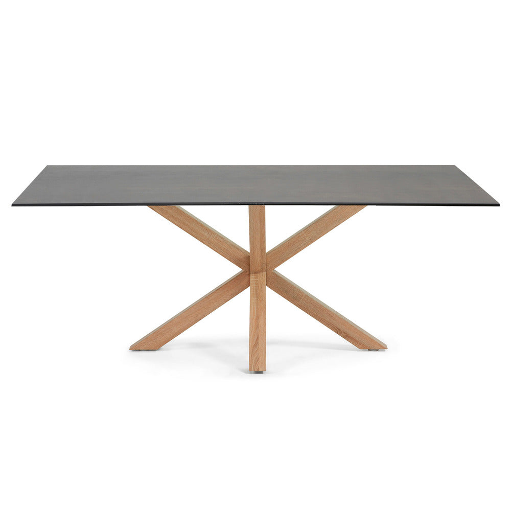 Masa Dining Table Natural Legs with Iron Moss Ceramic Top